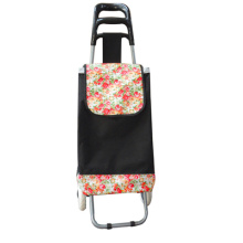 portable trolley shopping bag with wheels with zebra print