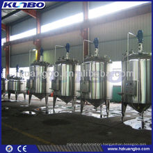 Mirror polish mixing tank with side mixer