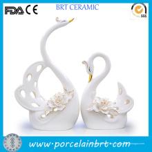 Высокая Элегантный Белый Лебедь Керамические Свадебный Подарок