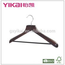 Porte-manteau large en cuir avec barre ronde et en couleur antique
