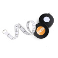 High measuring kids 1.5 metre body sewing tailoring measure tape light tailors retractable tape rule with snap button clip