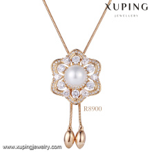 Xuping 18k gold pearl necklace designs, Women latest bead necklace designs, Fashion single Pearl Necklace Jewelry
