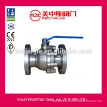 300 фунтов фланцевый углерода стальной шаровый клапан WCB