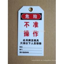 Resistencia a la corrosión bloqueo eléctrico etiqueta hacia fuera