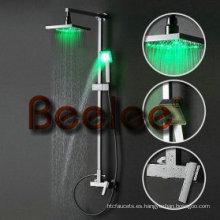 Juego de ducha de lluvia LED montado en la pared