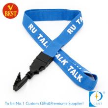 Kundenspezifische Qualitäts-flache Polyester-Schirm gedruckte Abzuglinie mit Klipp am Fabrik-Preis