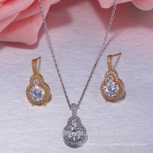 925 argent sterling mariage plaqué or 925 ensembles de bijoux en argent sterling