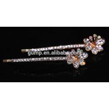2015 Новый цветочный дизайн Очаровательный блестящий кристалл Барретт Rhinestone Bobby PIN-код