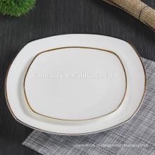 Керамическая обеденная тарелка ресторана GGK