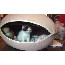 Casa removível por atacado da casa do gato da caverna do gato da forma do ovo da cama do cão