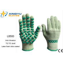 Антивибрационная оболочка T / C с латексными пенами с защитной перчаткой (L8500)