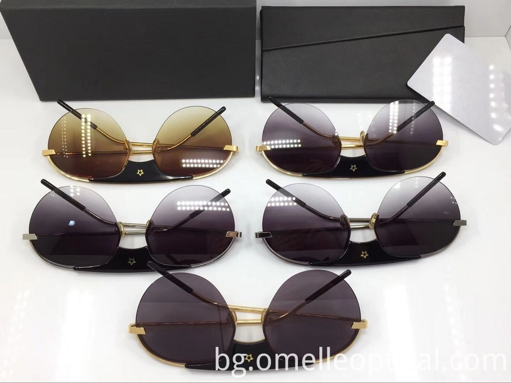 Half Frame Sunglasses Women