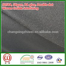 """Pegamento del PA 56gsm 60 """"anchura color negro tejido fusible interlínea"""