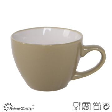 8oz Ceramic Soup Mug Inside White Outside Glazed