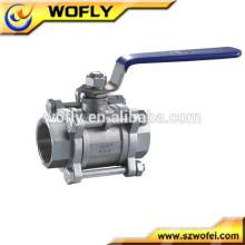 3pc válvula de esfera cf8m 1000 wog China fabricante