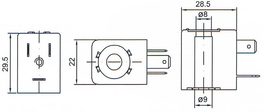 Dimension of BB09029516 Solenoid Coil: