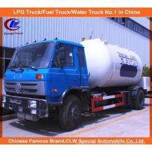 Dongfeng 4X2 15000L 15m3 LPG caminhão-tanque 10000L LPG gás que enchem caminhão