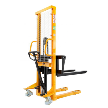 Xilin hand hydraulic operated cargo lifting stacker with adjustable forks
