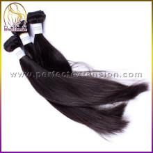 Großhandel 5A unbearbeitet menschliche Natur Schwarz (# 1 b) gerade indische Virgin Haar
