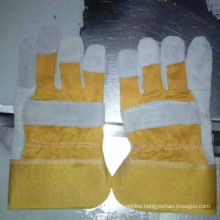 China Industrial Cow Split Leather Safety Worker Gloves