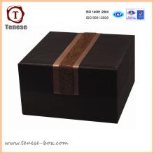 Caixa de embalagem feita sob encomenda do presente de papelão da jóia de Brown