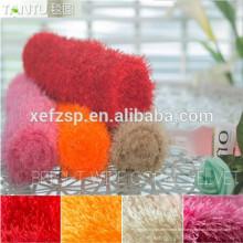 modernes Wohnzimmer wasserdichtes Bad lange Haare Teppich lang Flor 100% Polyester Maschine waschbar Eingangsmatte