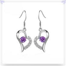 Moda jóias de cristal brinco 925 jóias de prata esterlina (se032)