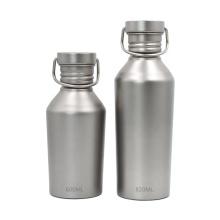 Титановая спортивная бутылка с крышкой для кемпинга на велосипеде