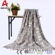 Couvertures 100% Acrylique crochetées frangées et épaisses