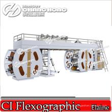 Máquina de impressão Flexographic tecida largura de 4 + 4 sacos