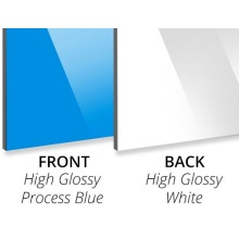 Panneau composite aluminium 3mm Process Blue PE Core