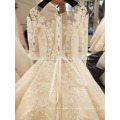 Heavy beading long sleeve wedding dress bridal gown 2017