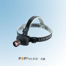 Zoom ajustável alumínio CREE Xr-E Q5 LED farol (POPPAS-T26)