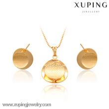 63344- Xuping Jewelry Fashion 2 piezas de latón conjunto de joyas con buena calidad