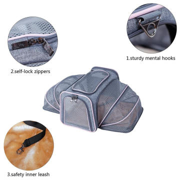 Airline Approved Both Side Expandable travel dog carrier