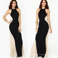 Sexy trägerloses, das Maxi Hochzeits-Kleid 2015 der schwarzen Frauen spinnt