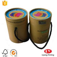 Boîte de cylindre personnalisée pour l'emballage de moules à cupcakes