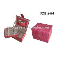 кожа Антикварные ювелирные коробки