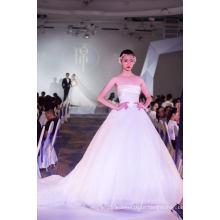 Атласная Аппликация Бальное Платье Одежда Свадебные Платья Для Новобрачных