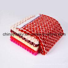 Polaire de PV de conception de mode, tissu de tricot de polyester