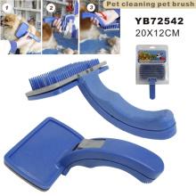 Plástico mascota de limpieza cepillo de mascotas (yb72542)