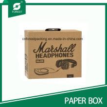 Custom Logo Impreso caja de cartón para los auriculares de embalaje