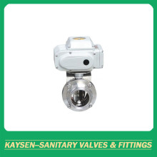 DIN Hygienic Electric Actuator Butterfly Valves Clamp end