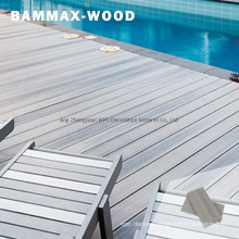 Outdoor Swimming Pool UV-Stable Deep Embossed Wood Grain Look Exterior WPC Co-Extrusion Flooring