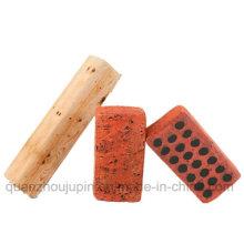 Custom Creative Wood Brick Bolster Cushion Pillow