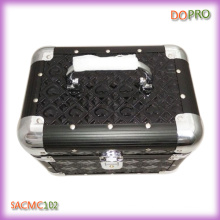 Black Glossy PVC Small Cosmetic Case with Lock (SACMC102)