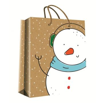 CHRISTMAS SERIES KRAFT GIFTBAG15-0