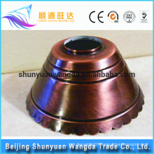 Customized spinning high quality Antique hight grade metal lampshade frames wholesale