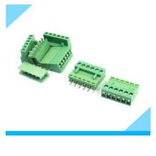 Conector do bloco de terminais do parafuso do PWB do verde de 6,96mm