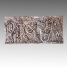 Estatua de Mitología Relieve / Relievo Apolo Escultura de Bronce TPE-451A / B